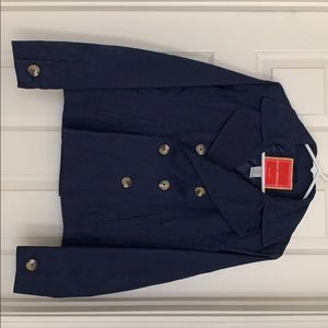 Isaac Mizrahi navy blue pea coat size medium